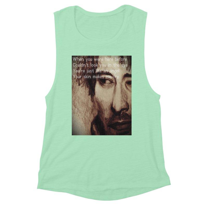 ROCKFACE: Thom Yorke Women's Muscle Tank by Armando's Artist Shop