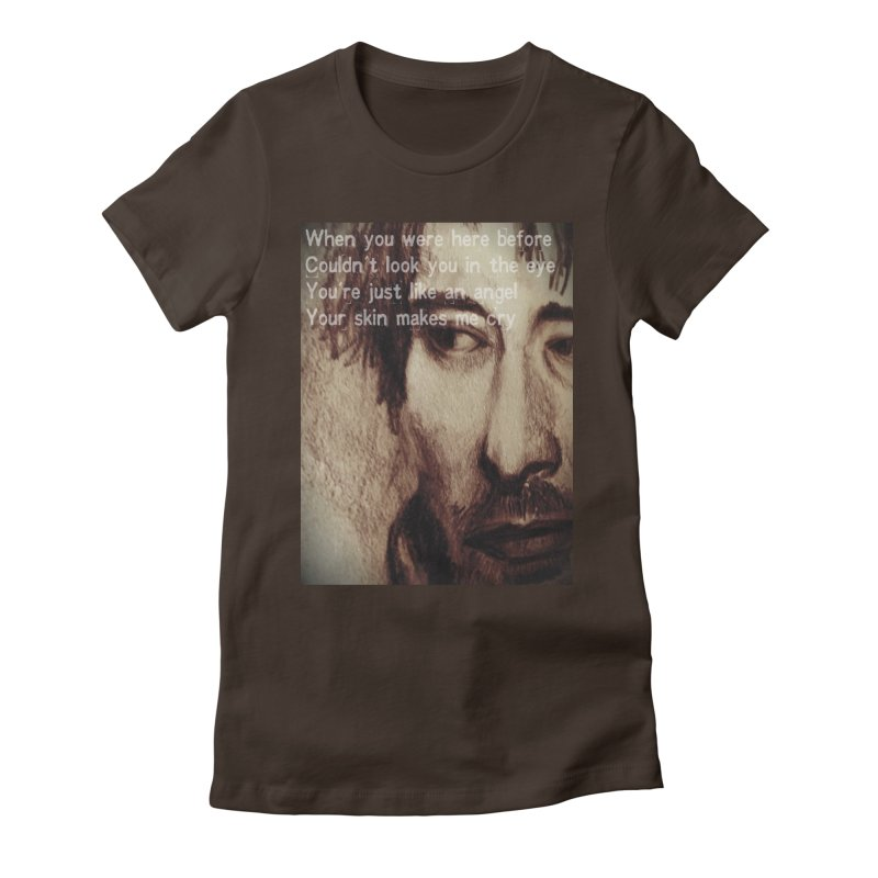ROCKFACE: Thom Yorke Women's Fitted T-Shirt by Armando's Artist Shop