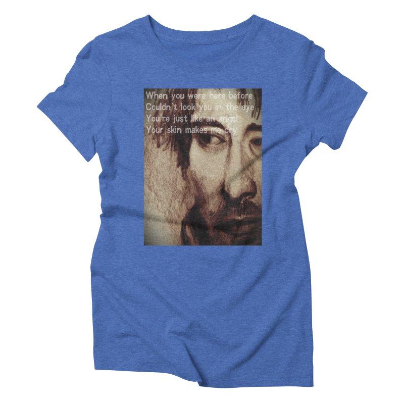 ROCKFACE: Thom Yorke Women's Triblend T-Shirt by Armando's Artist Shop