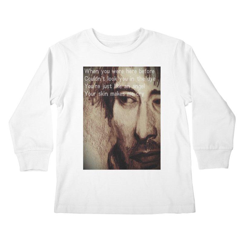 ROCKFACE: Thom Yorke Kids Longsleeve T-Shirt by Armando's Artist Shop