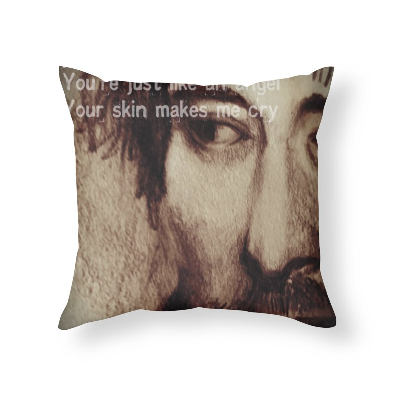 ROCKFACE: Thom Yorke Home Throw Pillow by Armando's Artist Shop