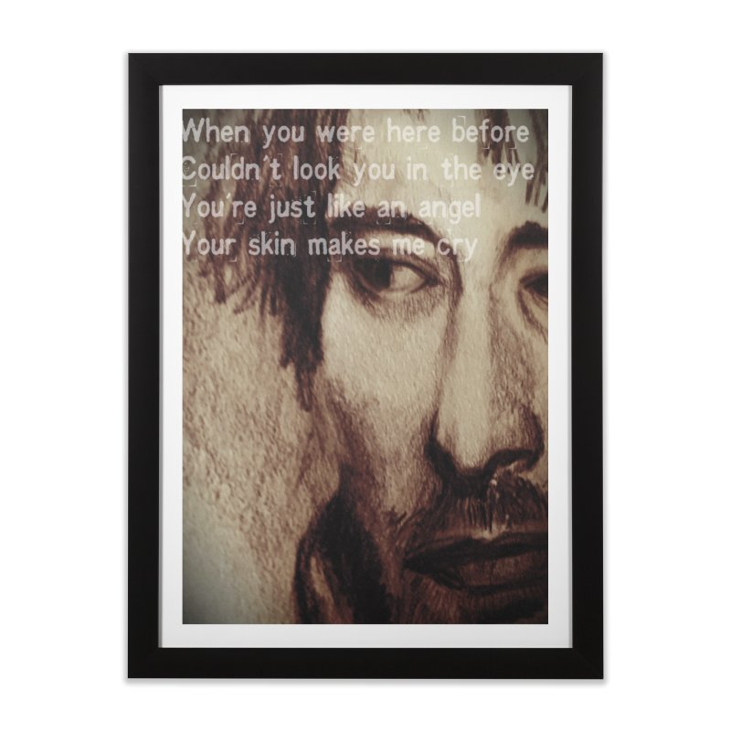 ROCKFACE: Thom Yorke Home Framed Fine Art Print by Armando's Artist Shop