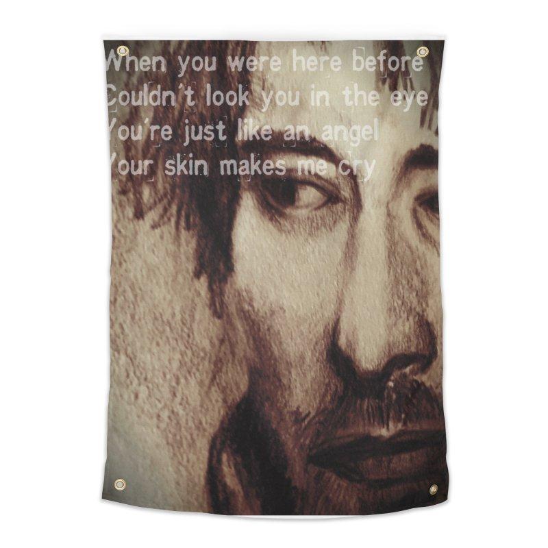 ROCKFACE: Thom Yorke Home Tapestry by Armando's Artist Shop