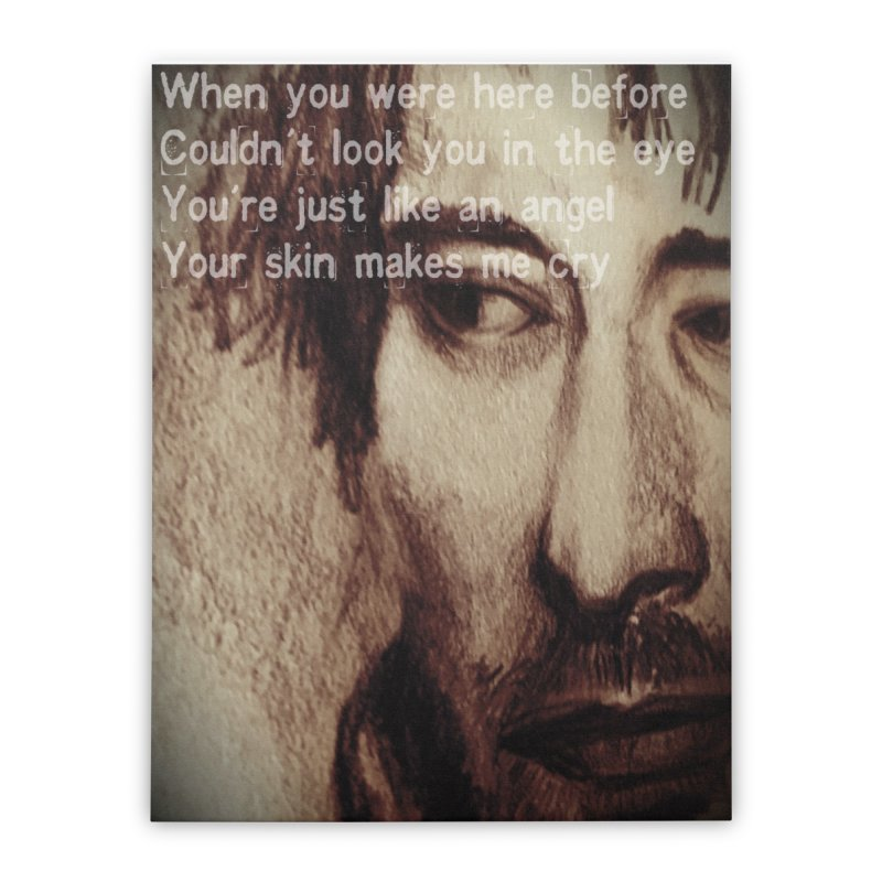 ROCKFACE: Thom Yorke Home Stretched Canvas by Armando's Artist Shop