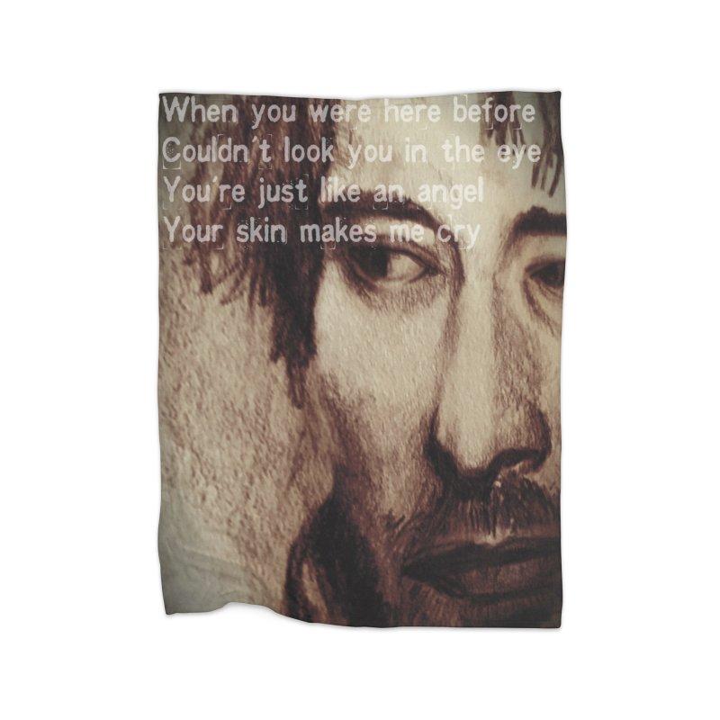 ROCKFACE: Thom Yorke Home Fleece Blanket Blanket by Armando's Artist Shop