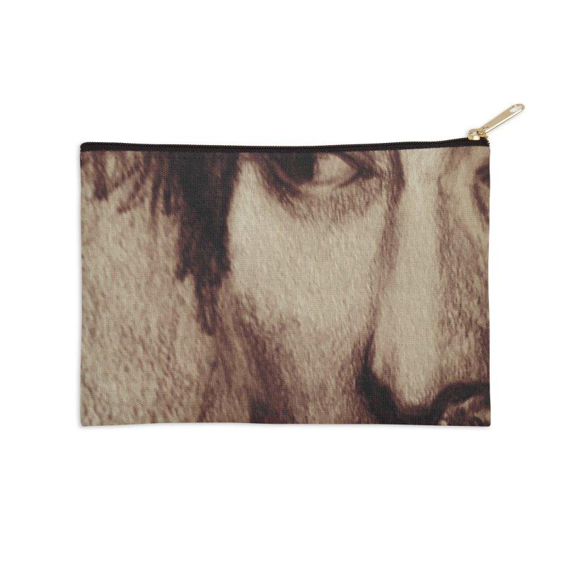 ROCKFACE: Thom Yorke Accessories Zip Pouch by Armando's Artist Shop