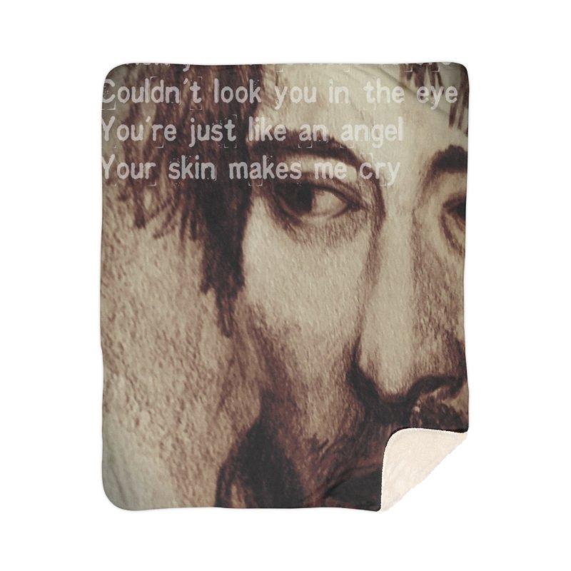 ROCKFACE: Thom Yorke Home Sherpa Blanket Blanket by Armando's Artist Shop
