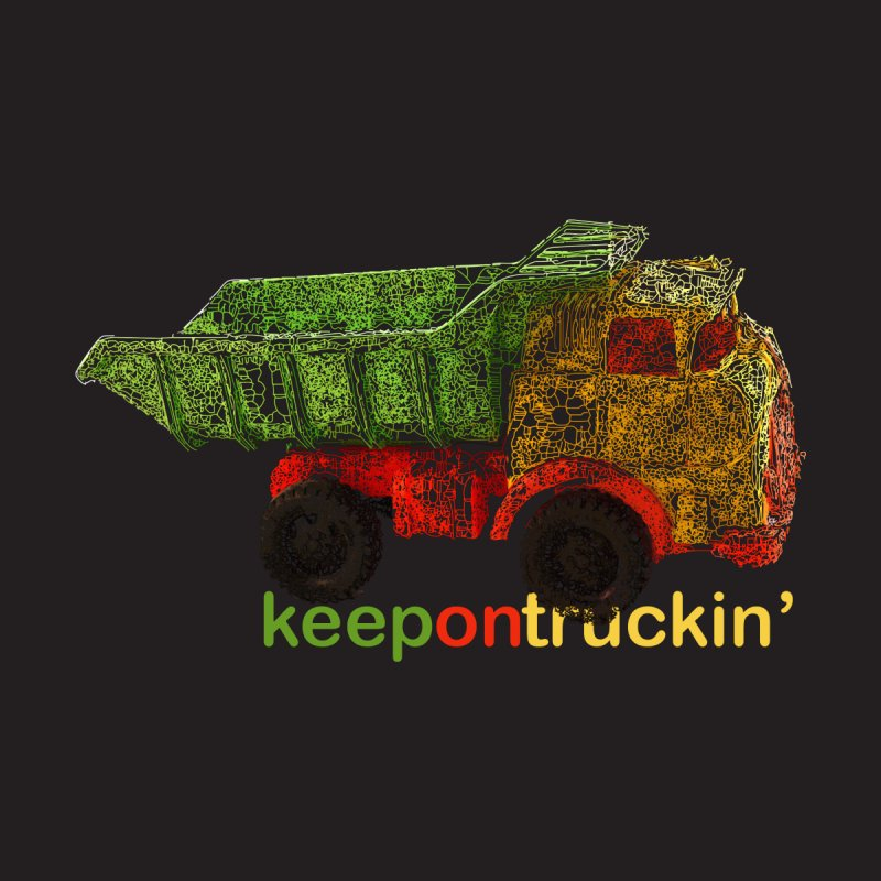 Keep On Trucking Kids Baby T-Shirt by Armando's Artist Shop