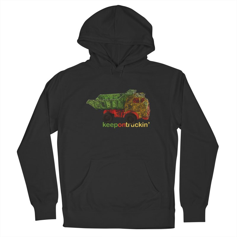Keep On Trucking Men's French Terry Pullover Hoody by Armando's Artist Shop