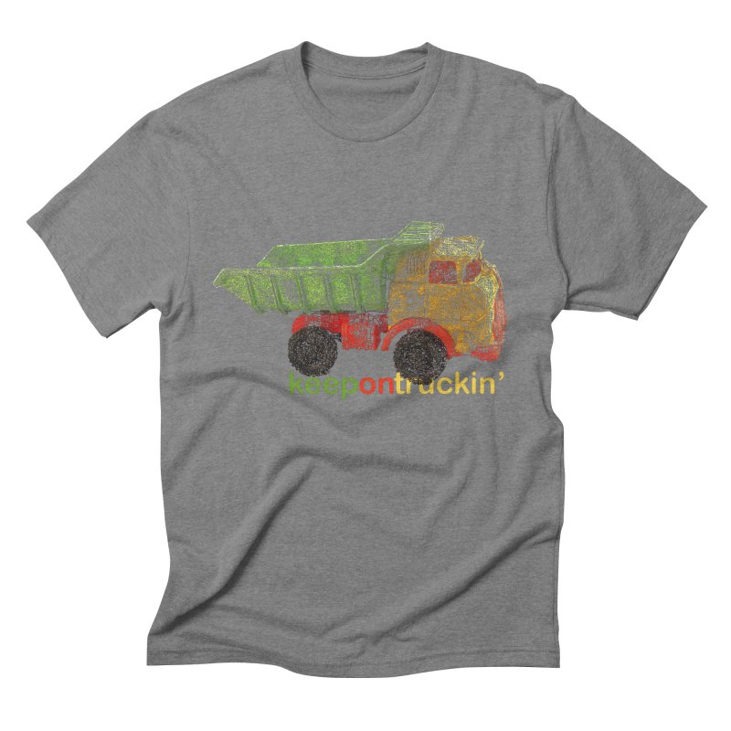Keep On Trucking Men's Triblend T-Shirt by Armando's Artist Shop