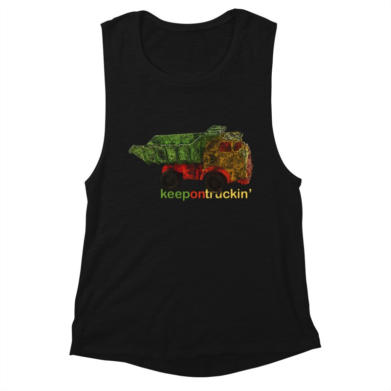 Keep On Trucking Women's Tank by Armando's Artist Shop