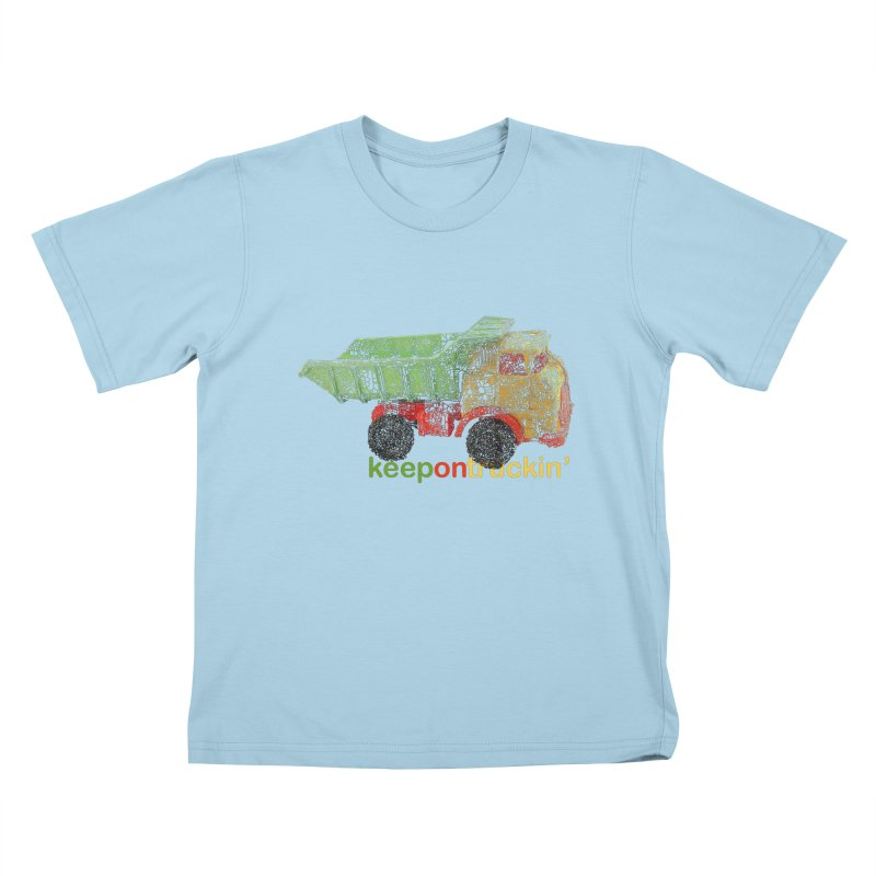 Keep On Trucking Kids T-Shirt by Armando's Artist Shop