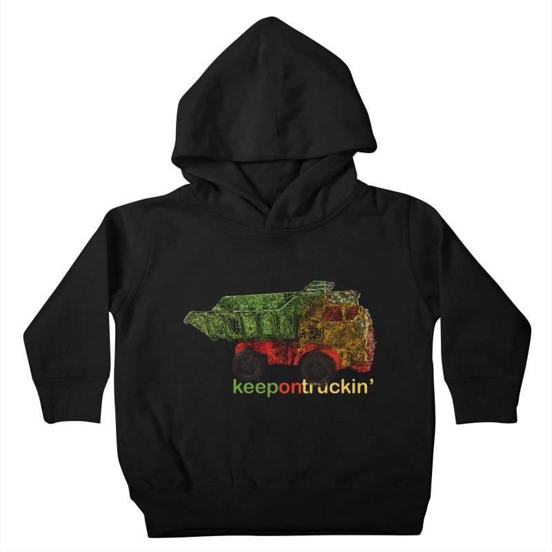 Keep On Trucking Kids Toddler Pullover Hoody by Armando's Artist Shop