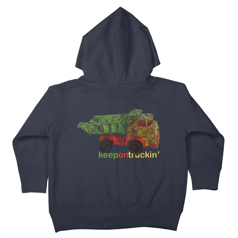Keep On Trucking Kids Toddler Zip-Up Hoody by Armando's Artist Shop