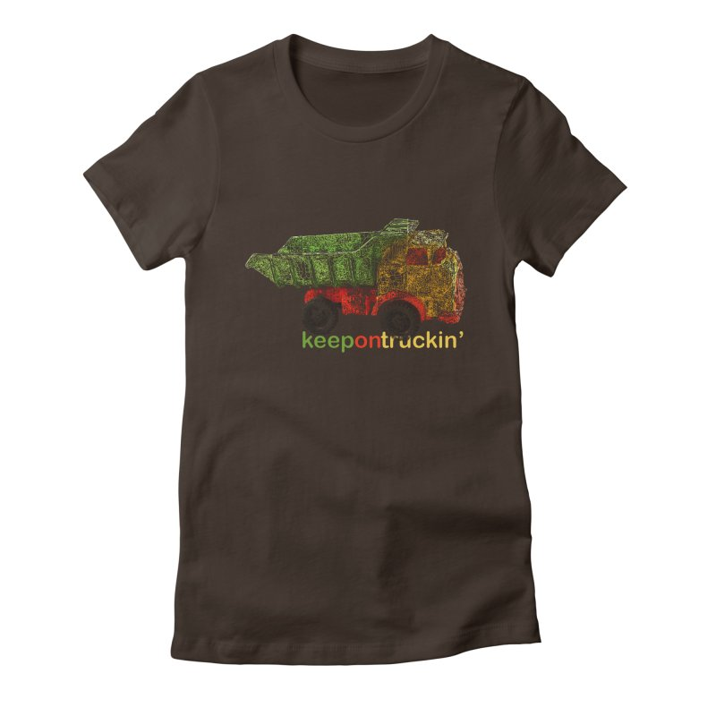Keep On Trucking Women's Fitted T-Shirt by Armando's Artist Shop