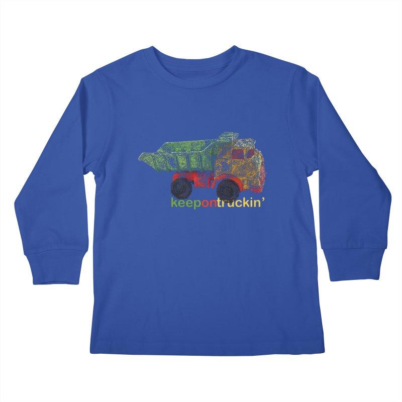 Keep On Trucking Kids Longsleeve T-Shirt by Armando's Artist Shop
