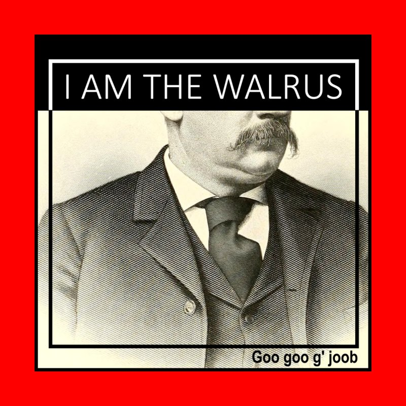 I Am The Walrus Men's V-Neck by Armando's Artist Shop