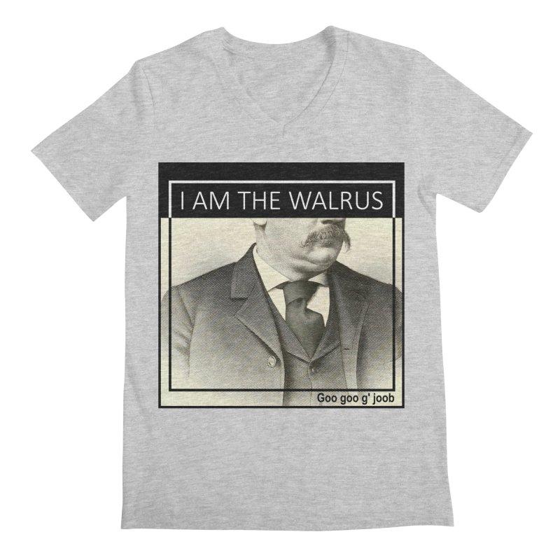 I Am The Walrus Men's Regular V-Neck by Armando's Artist Shop
