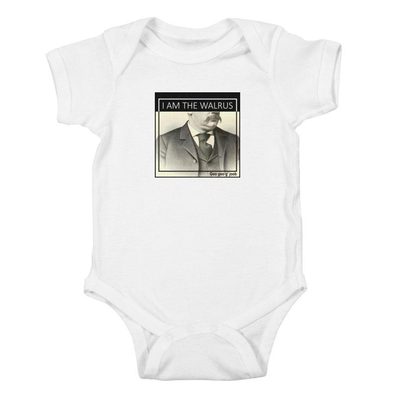 I Am The Walrus Kids Baby Bodysuit by Armando's Artist Shop