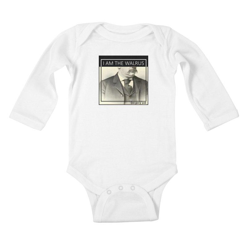 I Am The Walrus Kids Baby Longsleeve Bodysuit by Armando's Artist Shop