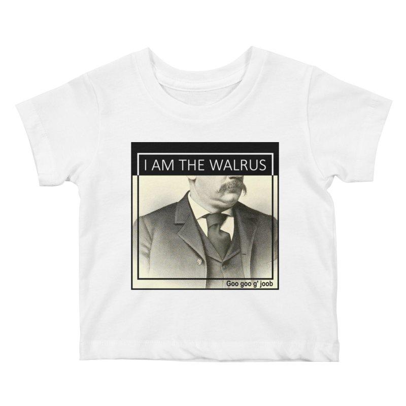 I Am The Walrus Kids Baby T-Shirt by Armando's Artist Shop