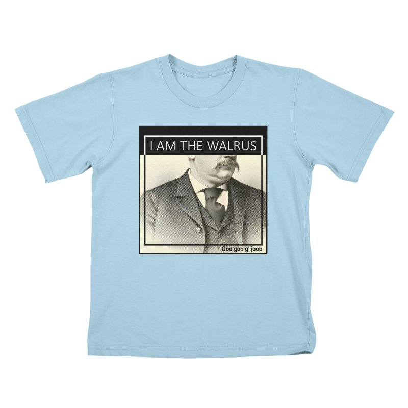 I Am The Walrus Kids T-Shirt by Armando's Artist Shop