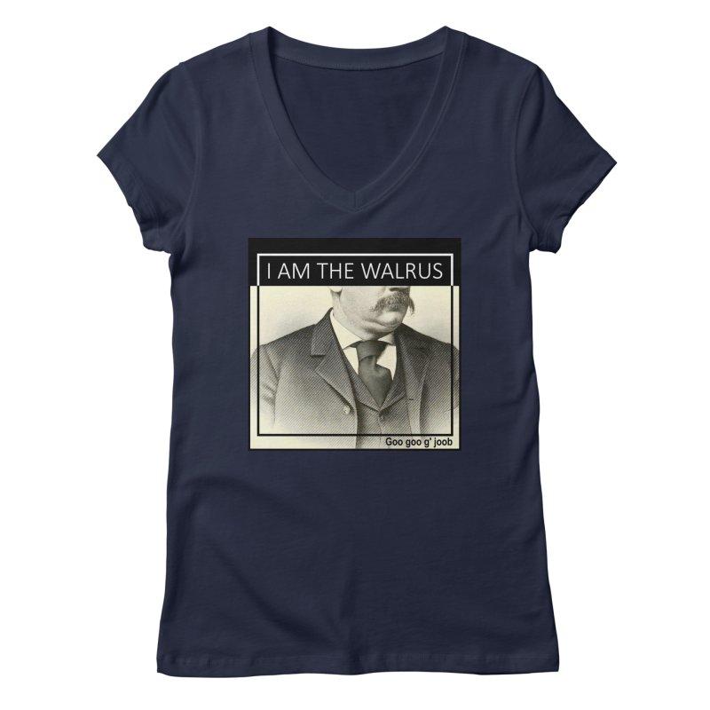 I Am The Walrus Women's Regular V-Neck by Armando's Artist Shop