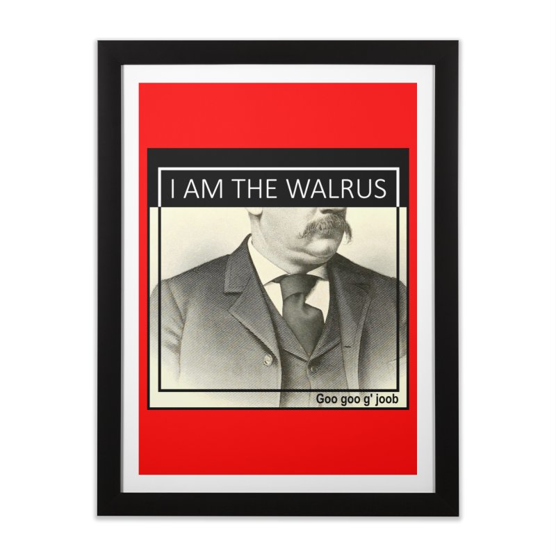 I Am The Walrus Home Framed Fine Art Print by Armando's Artist Shop