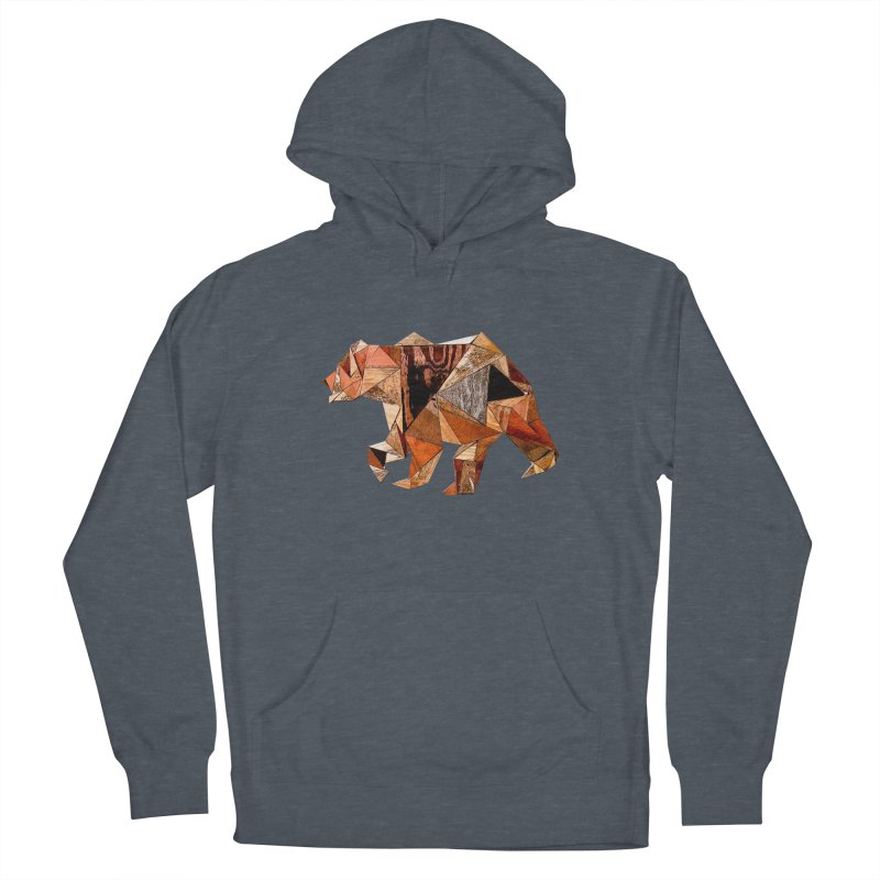 Bear Walking In The Wood Women's French Terry Pullover Hoody by Armando's Artist Shop