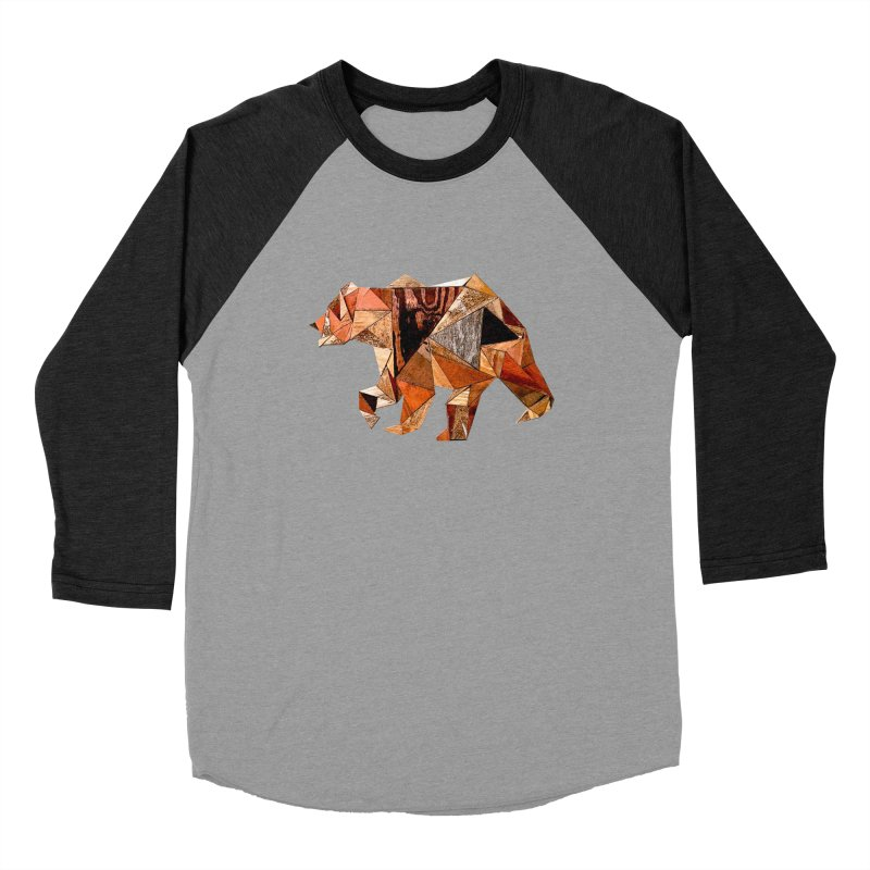 Bear Walking In The Wood Women's Baseball Triblend Longsleeve T-Shirt by Armando's Artist Shop