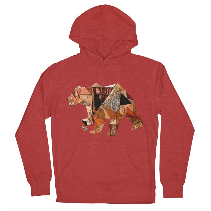 Bear Walking In The Wood Men's French Terry Pullover Hoody by Armando's Artist Shop