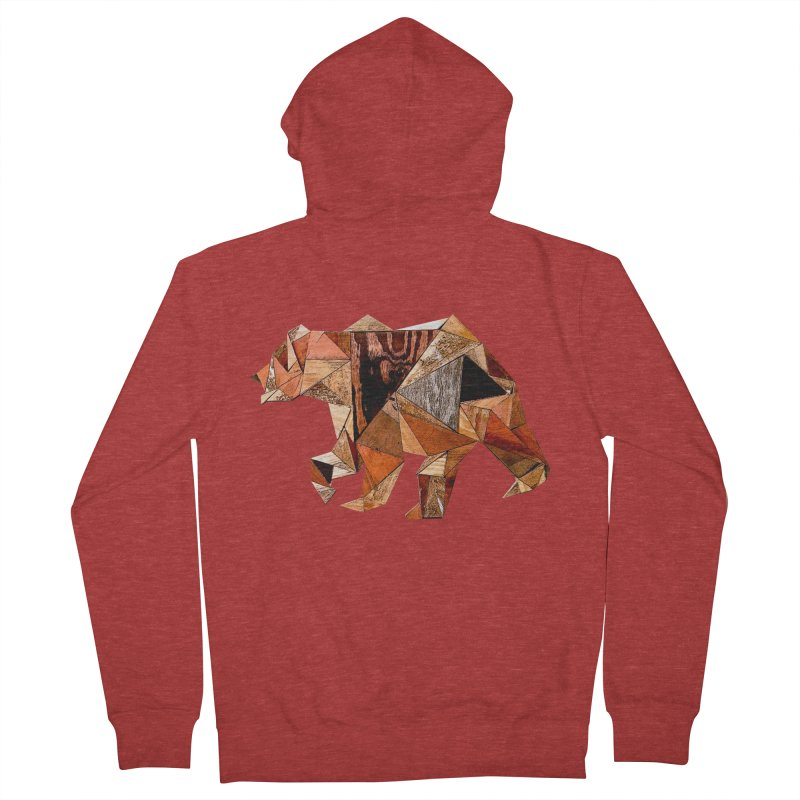 Bear Walking In The Wood Women's French Terry Zip-Up Hoody by Armando's Artist Shop