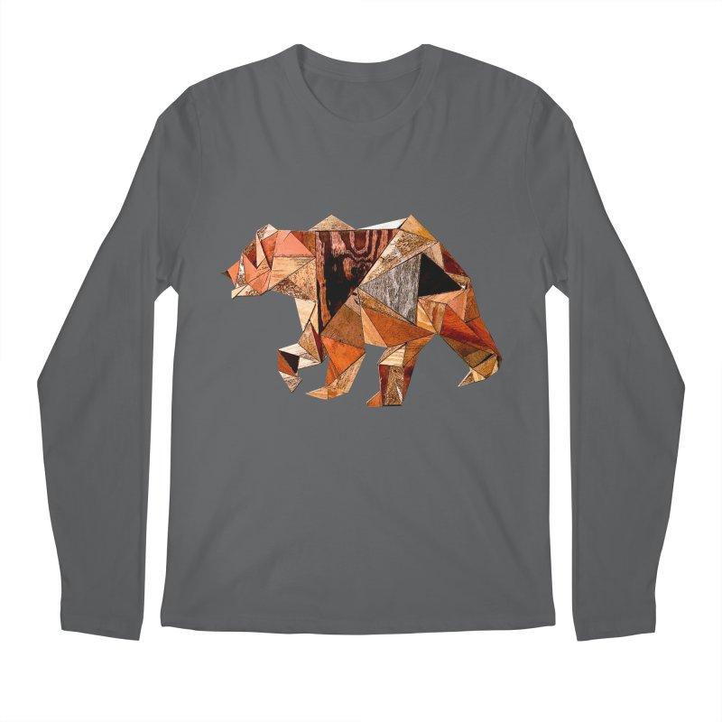 Bear Walking In The Wood Men's Longsleeve T-Shirt by Armando's Artist Shop