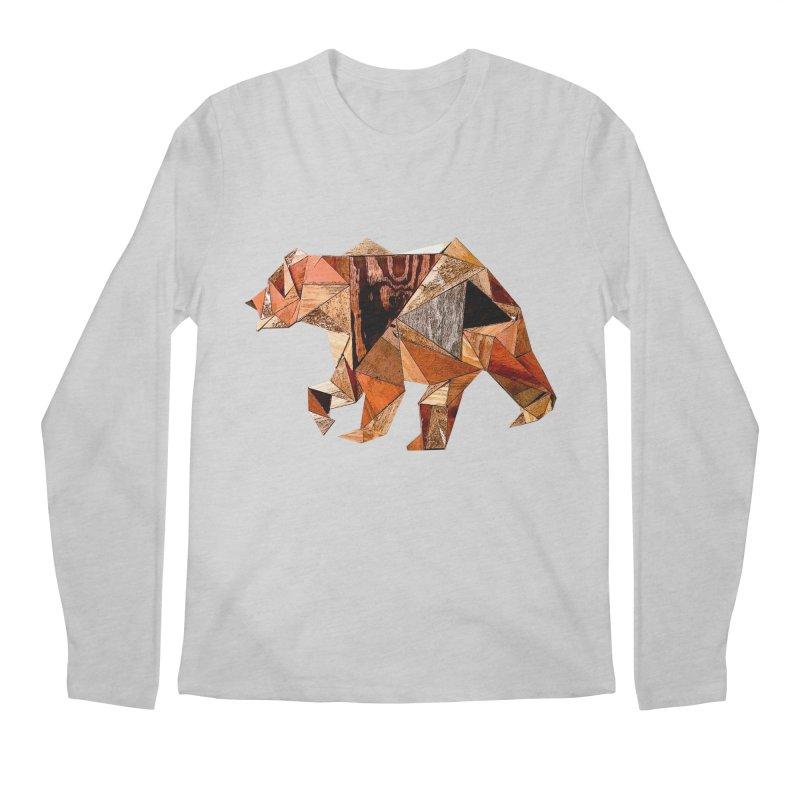Bear Walking In The Wood Men's Regular Longsleeve T-Shirt by Armando's Artist Shop