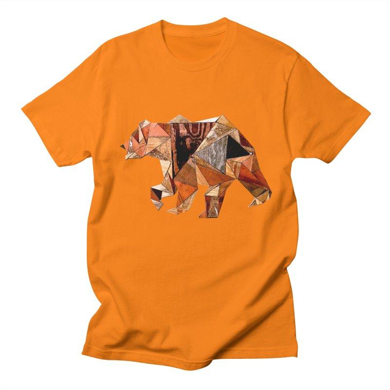 Bear Walking In The Wood Men's Regular T-Shirt by Armando's Artist Shop