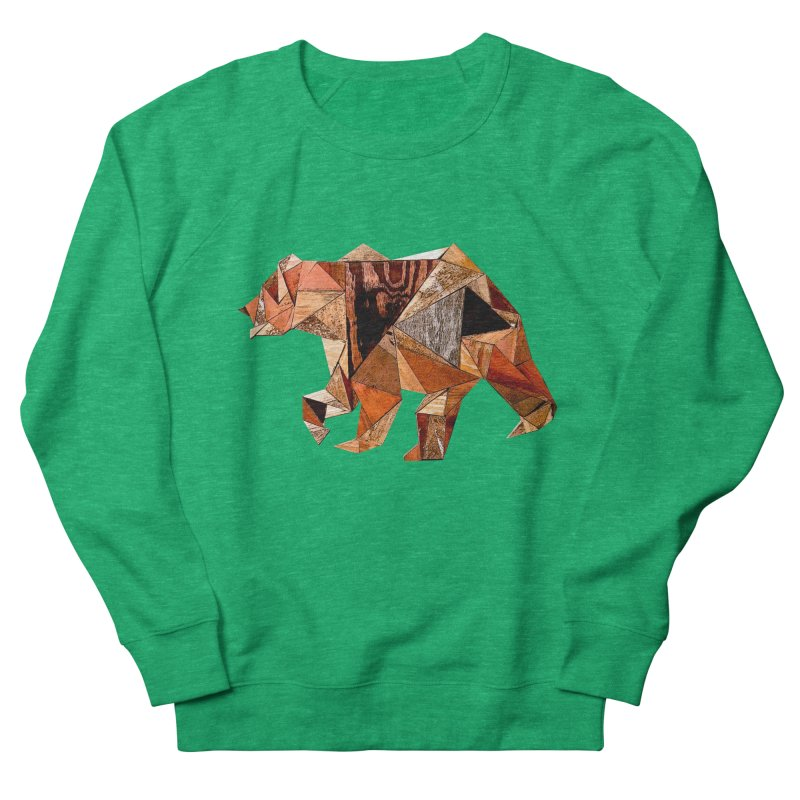 Bear Walking In The Wood Women's Sweatshirt by Armando's Artist Shop