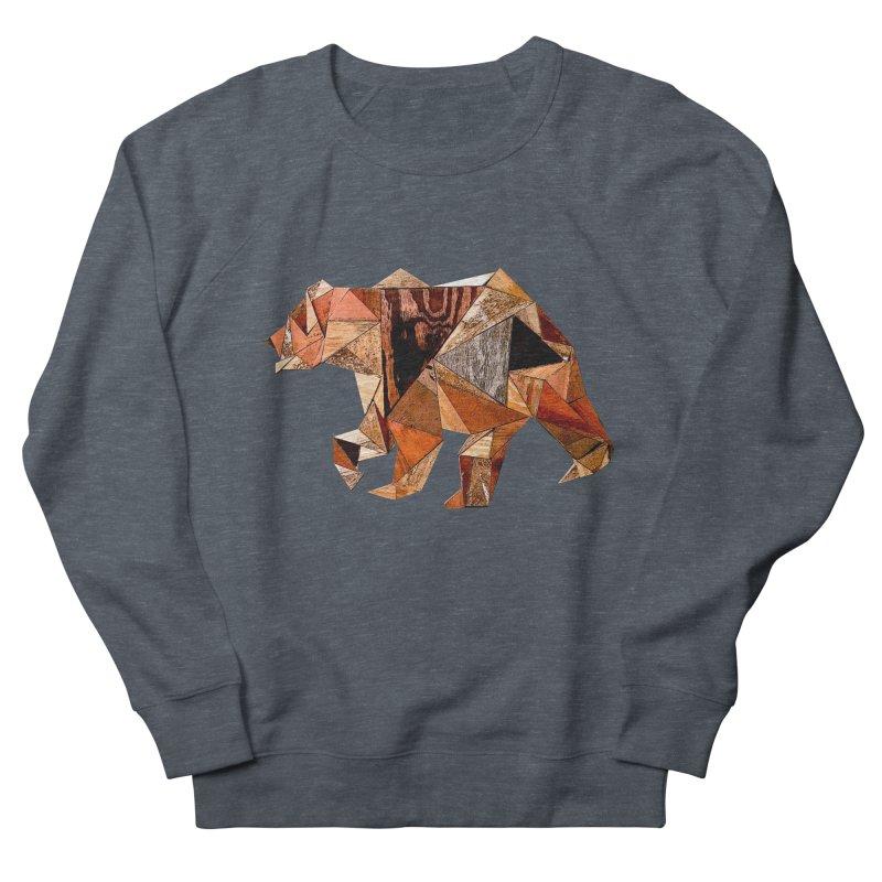 Bear Walking In The Wood Women's French Terry Sweatshirt by Armando's Artist Shop