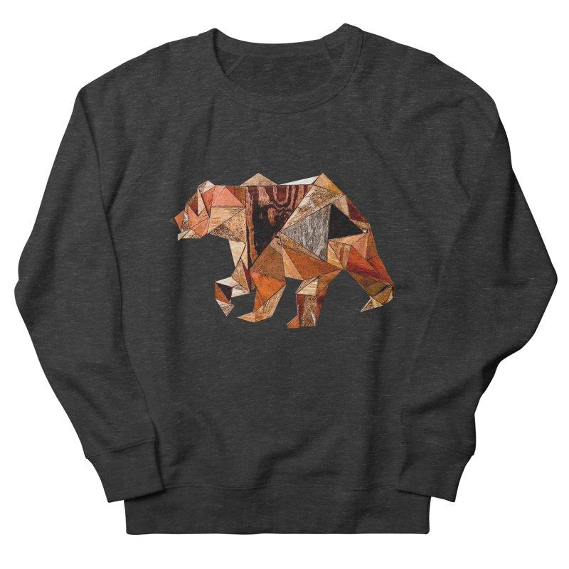 Bear Walking In The Wood Men's French Terry Sweatshirt by Armando's Artist Shop