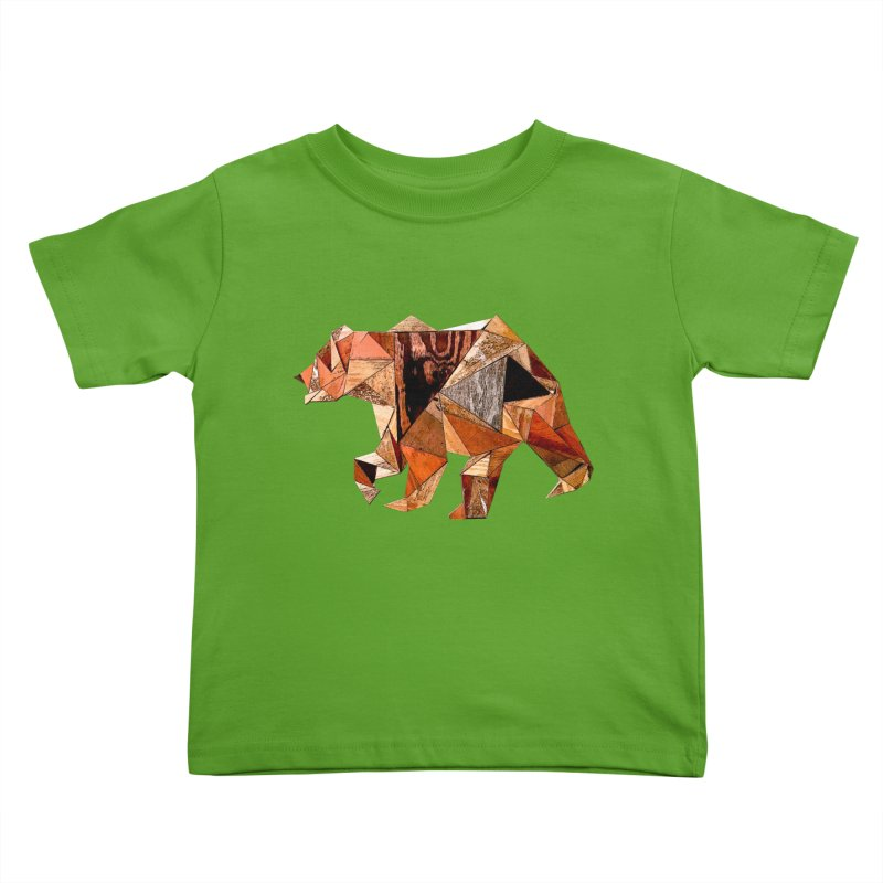Bear Walking In The Wood Kids Toddler T-Shirt by Armando's Artist Shop