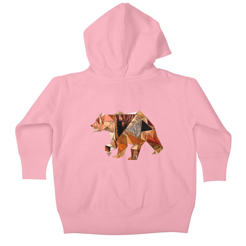 Bear Walking In The Wood Kids Baby Zip-Up Hoody by Armando's Artist Shop