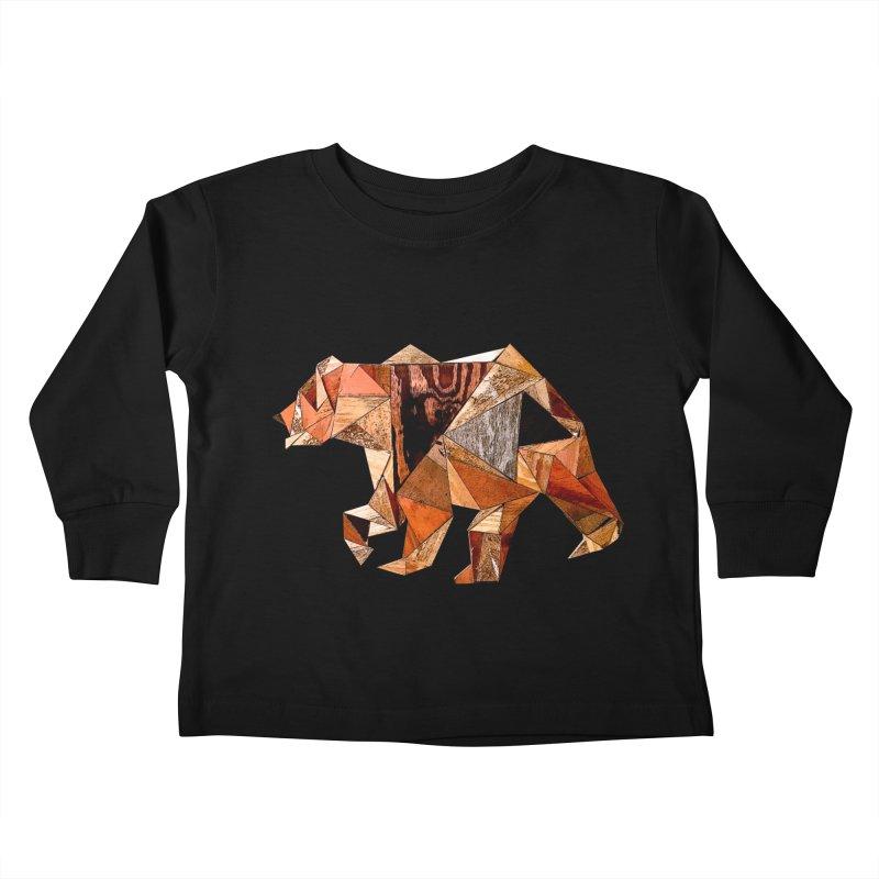 Bear Walking In The Wood Kids Toddler Longsleeve T-Shirt by Armando's Artist Shop