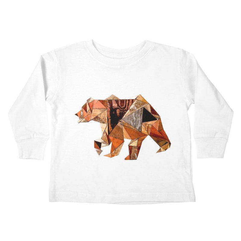 Bear Walking In The Wood Kids Toddler Longsleeve T-Shirt by Armando's Artist Shop