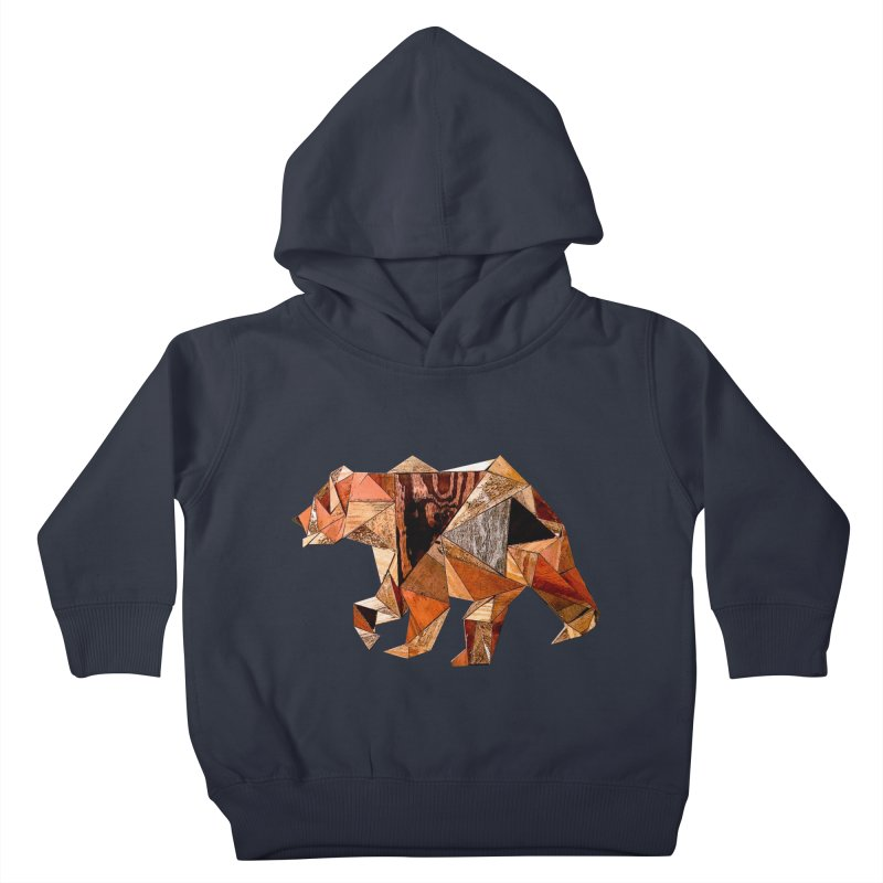 Bear Walking In The Wood Kids Toddler Pullover Hoody by Armando's Artist Shop