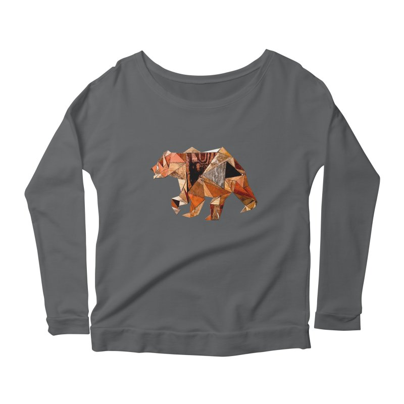 Bear Walking In The Wood Women's Longsleeve T-Shirt by Armando's Artist Shop