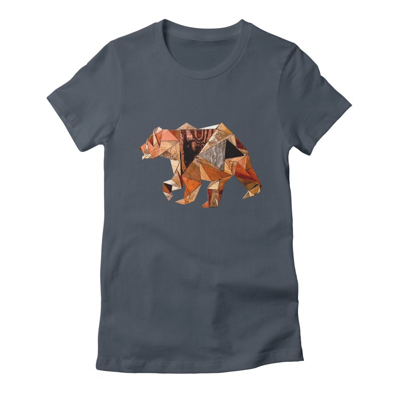 Bear Walking In The Wood Women's T-Shirt by Armando's Artist Shop