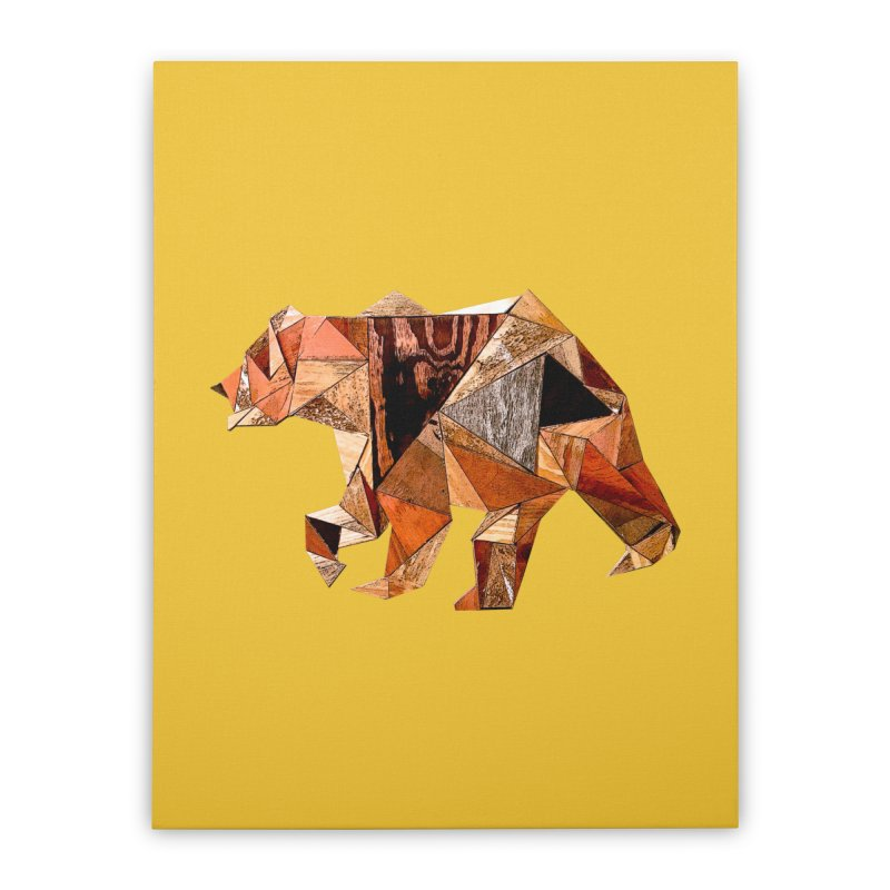 Bear Walking In The Wood Home Stretched Canvas by Armando's Artist Shop