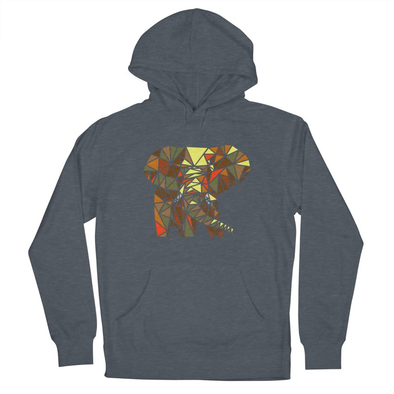 Patchwork Elephant Men's French Terry Pullover Hoody by Armando's Artist Shop