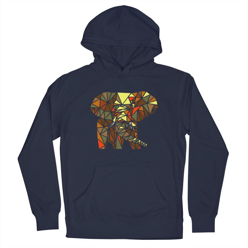 Patchwork Elephant Men's Pullover Hoody by Armando's Artist Shop