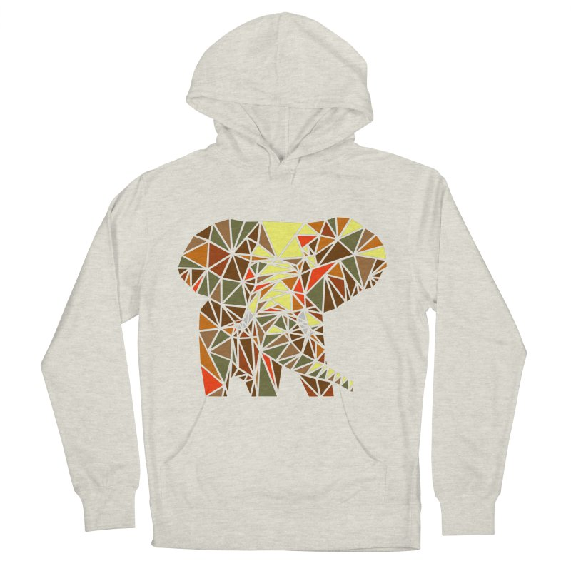 Patchwork Elephant Women's French Terry Pullover Hoody by Armando's Artist Shop