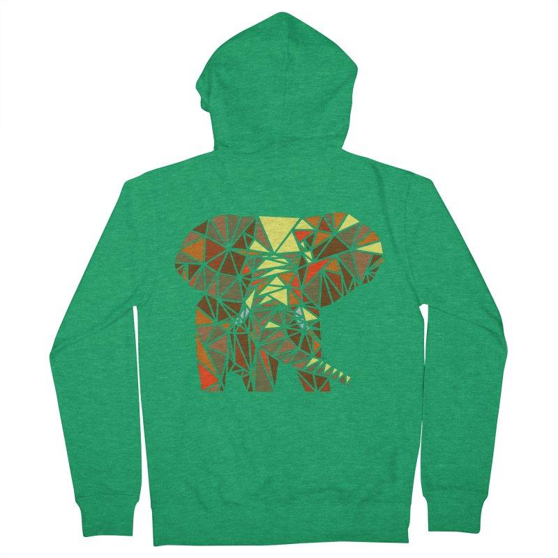 Patchwork Elephant Men's Zip-Up Hoody by Armando's Artist Shop